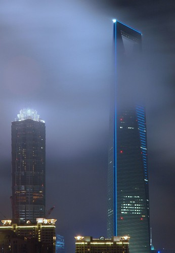 Shanghai - Jin Mao and SWFC in clouds | by cnmark