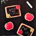 Back to School Edible Chalkboard Cookies