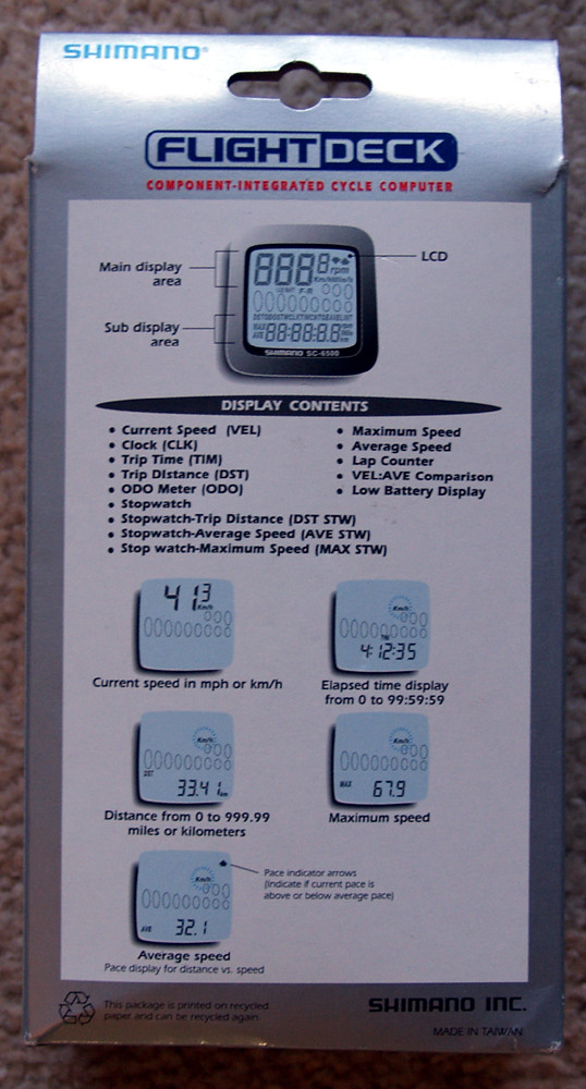 shimano flight deck sc 6500 manual