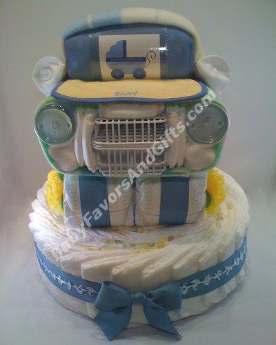 How To Make A Baby Diaper Car Cake