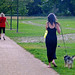 Reigate Priory Park - Aug 2011 - Starjumper & Another Girl Walking Her Dog Candid