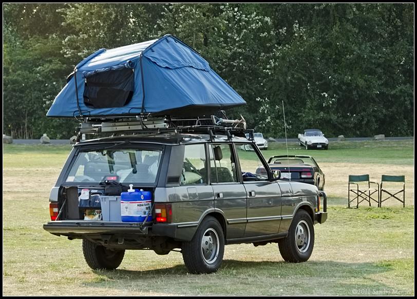 Range Rover Roof Top Tent 2011 All British Field Meet