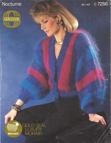 1980s Knitting Pattern - Mohair Batwing Jumper | Tegwen Parry | Flickr