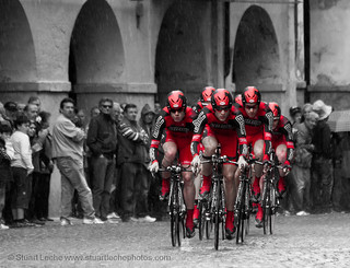 Cadel Evans & BMC Cycling Team - Time Trial - Giro d'Italia 2010, Savigliano, Italy | by Stuart Leche