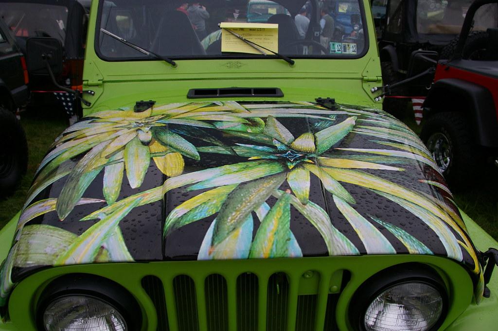 Cool Hood Decal On A Jeep Cj 7 Jeff Daniel S Jeep Show 201 Flickr