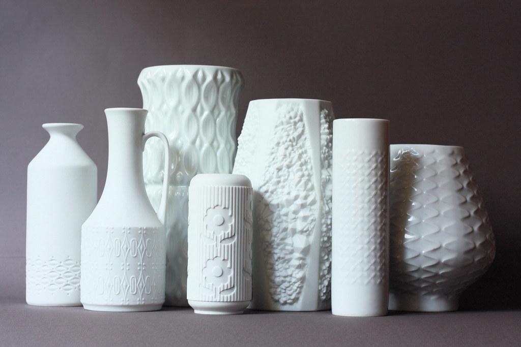 Vintage White Porcelain German Vases Super Ninon Flickr