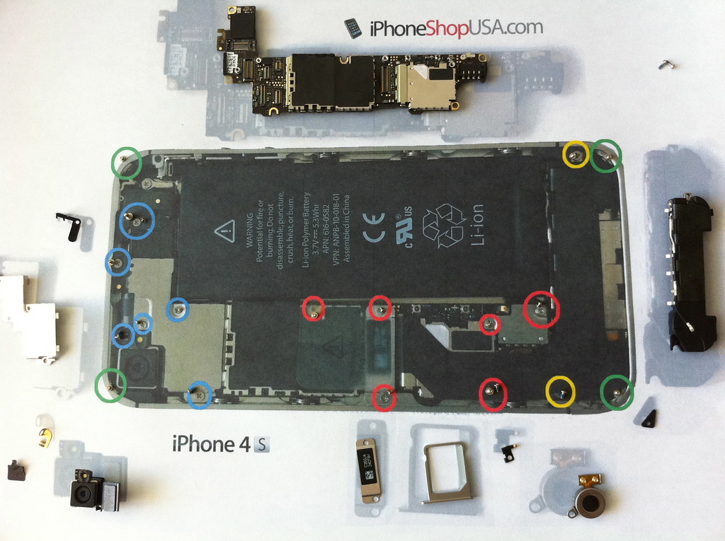 iphone 6 screw chart pdf