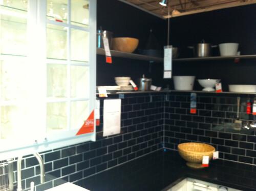 Ikea Kitchen Vignette With Black Subway Tile Backsplash | Flickr