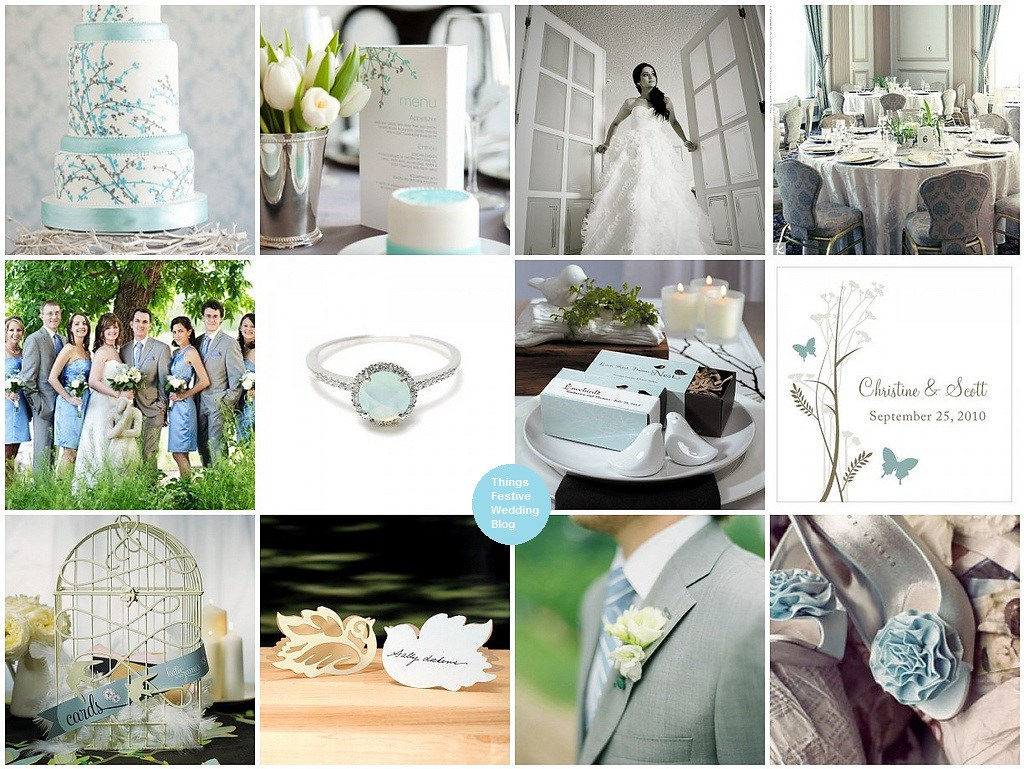 Bird Themed Wedding in Blue and Grey | See resources at Thin… | Flickr