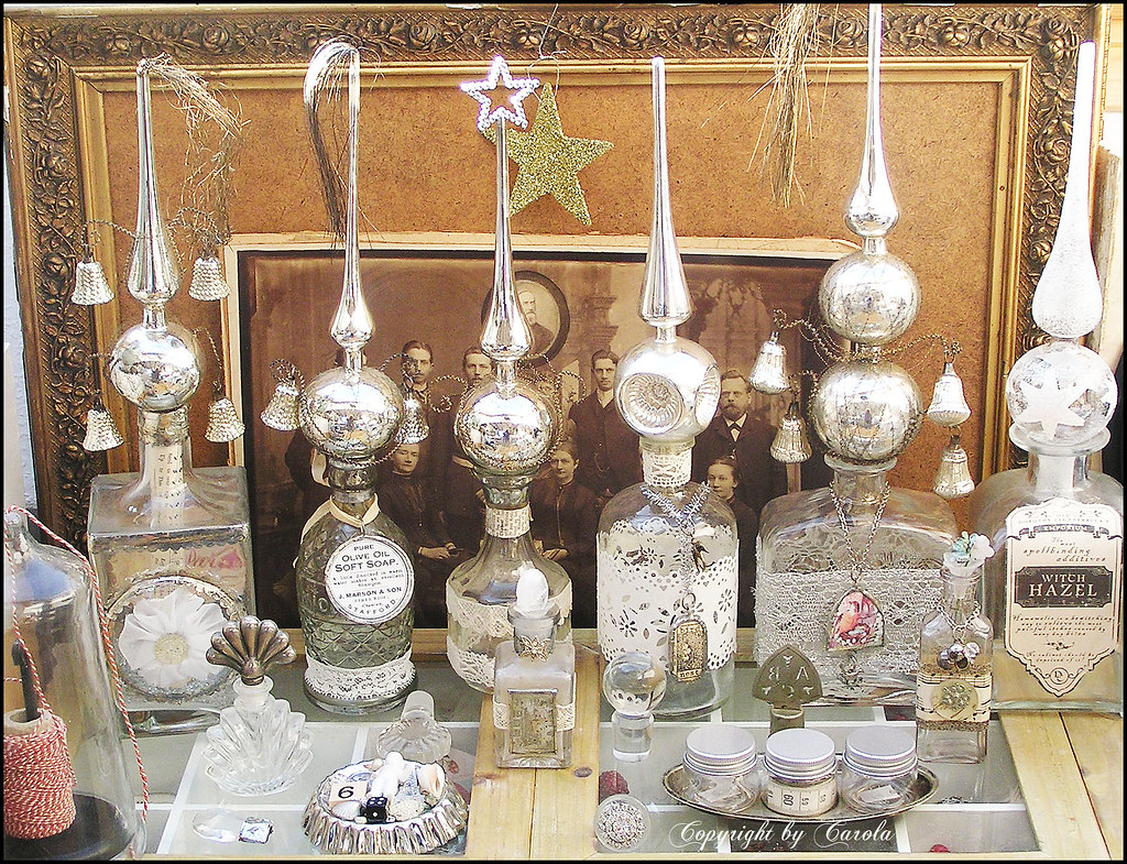 vintage glass tree topper collection by boxwoodcottage