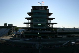 Early morning in front of the Pagoda | by indianapolismotorspeedway.com
