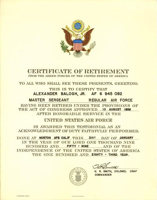 Template Army Retirement Certificate U2013 Retirement Certificate Template