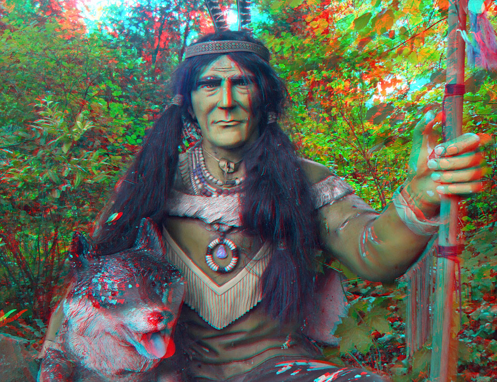 3D red/cyan Anaglyph - Radebeul, Karl May-Museum, Indianer…   Flickr
