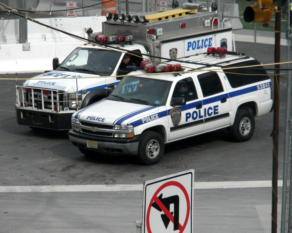 papd and nypd police cars world trade center new york ci. Black Bedroom Furniture Sets. Home Design Ideas