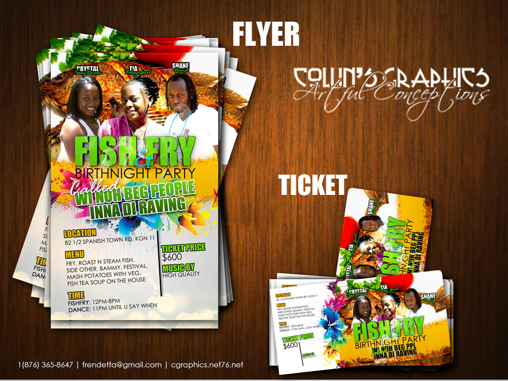 Fish Fry Flyer And Ticket