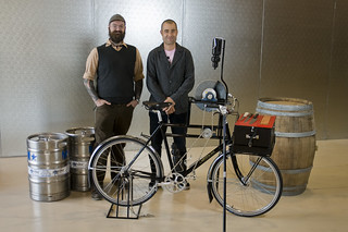 Bernardo and I with his new rig | by Winter Bicycles