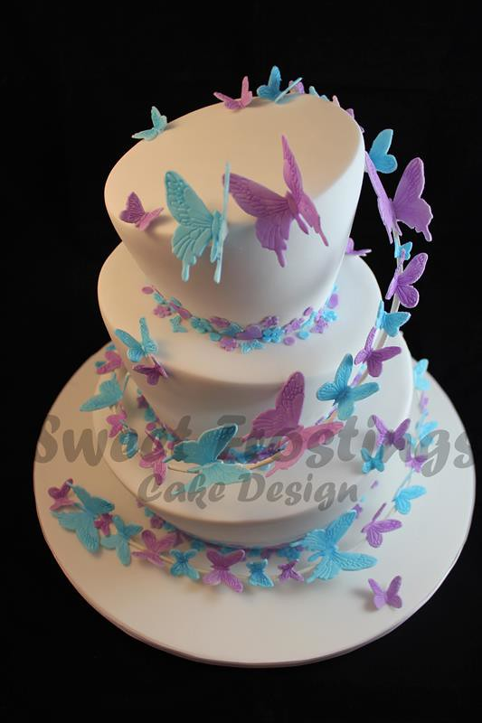 Mad hatter wedding cake | My first paid wedding cake. So pro… | Flickr
