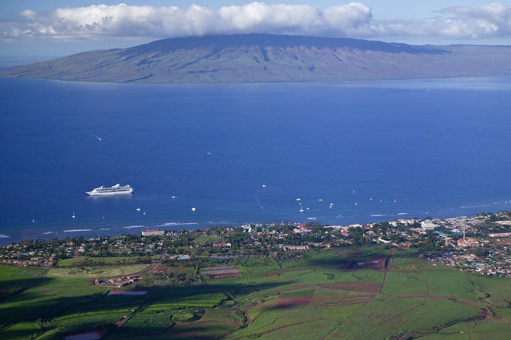 Aerial of Lahaina, Maui | Aerial view of Lahaina, Maui