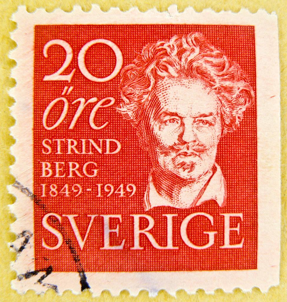 Resultado de imagem para selo de August Strindberg