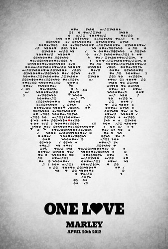 'One love' - poster for 'Marley' | by Viktor Hertz
