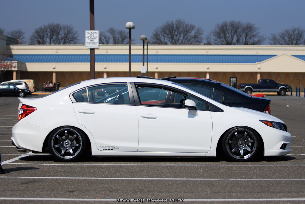 the first slammed 9th gen civic si by no surprised gabe. Black Bedroom Furniture Sets. Home Design Ideas