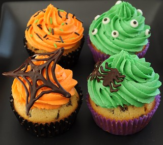 Halloween cookie dough cupcakes | by Sugar for the Brain