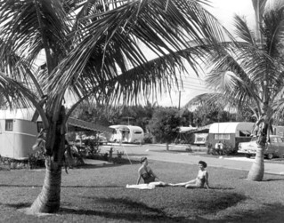 Unidentified women sunbath at the Hollywood Beach Trailer Park: Hollywood, Florida | by State Library and Archives of Florida