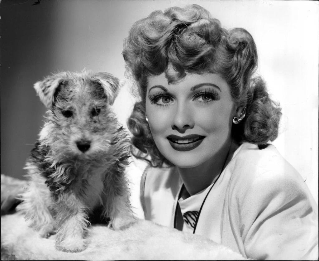 Lucy And A Puppy Lucille Ball In The 1940 39 S Lucy Fan