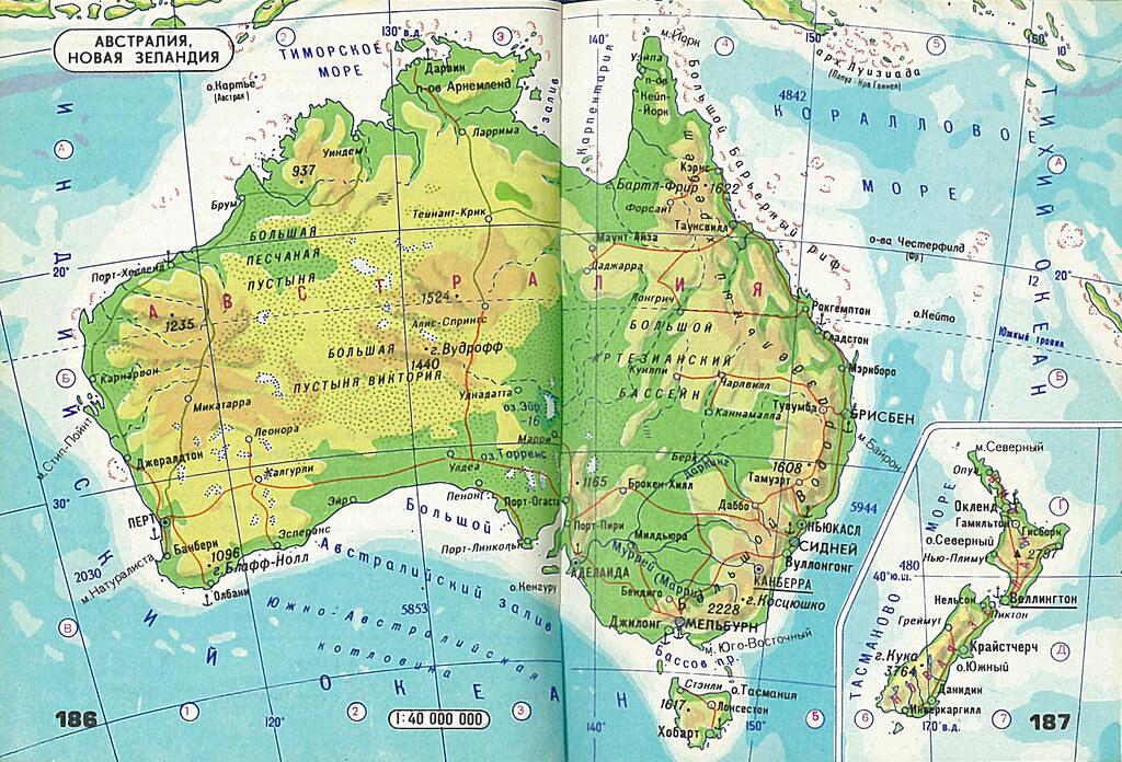 atlas mira 186-187 Australia NZ | Physical map of Australia | Flickr
