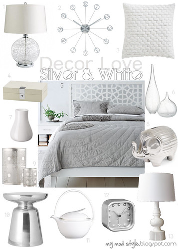 Decor Love Silver & White - Oct 2011 | by Jessie {Creating Happy}