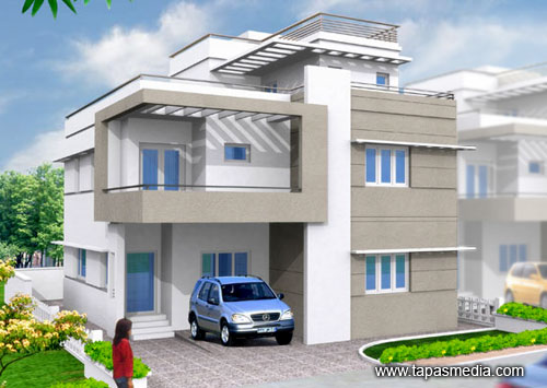 house 3d view 3ds max