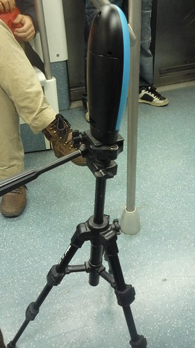 Photo Elpasing Camera in action in the metro | by Littlemad