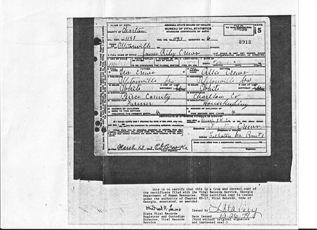 Georgia Birth Certificate To Pin On Pinterest