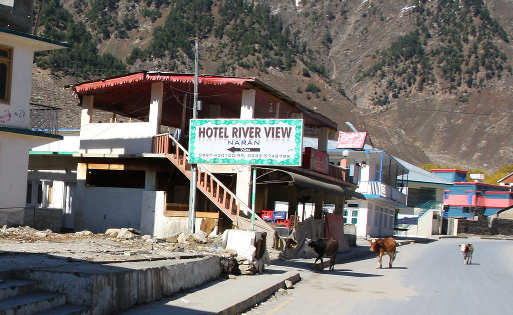Hotel River View Next To Naran Road With Some Animals Kag Flickr