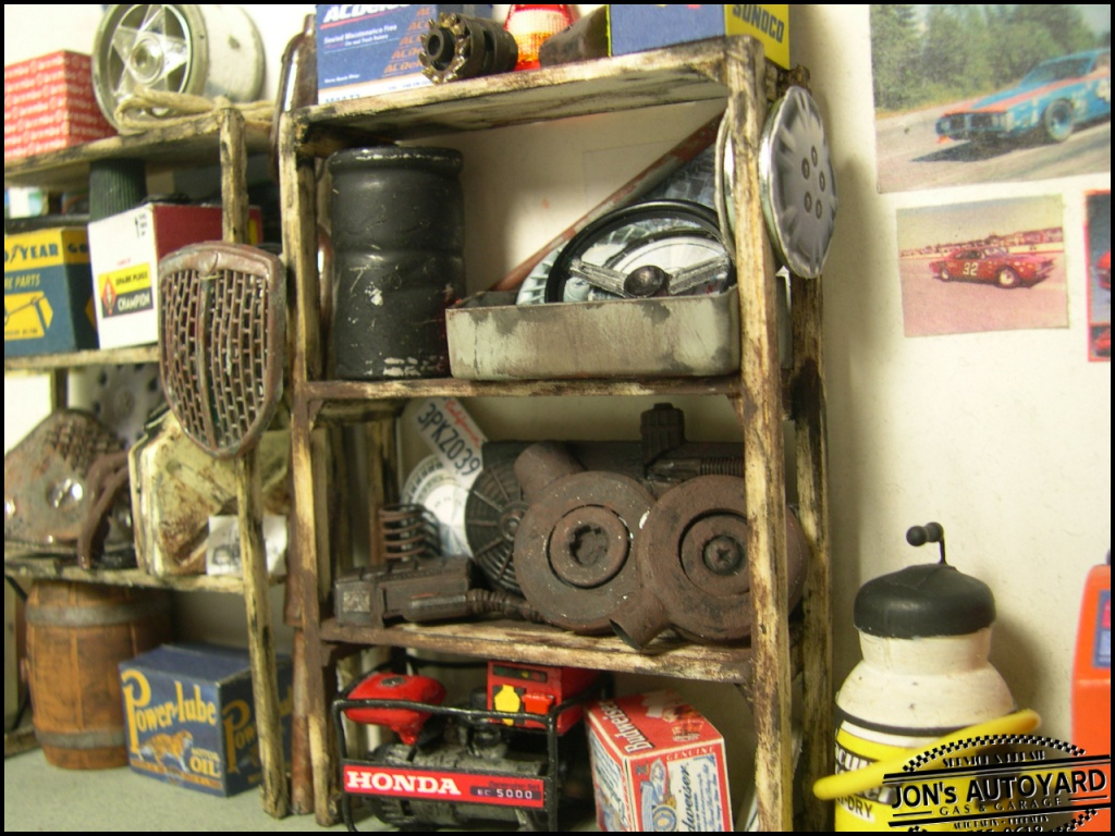 1 18 Jon S Autoyard Diorama Latests Shelves New Boxes
