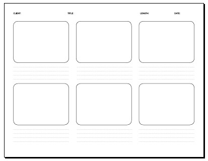 Amazing Storyboard Template Pdf Gallery  Wordpress Themes Ideas