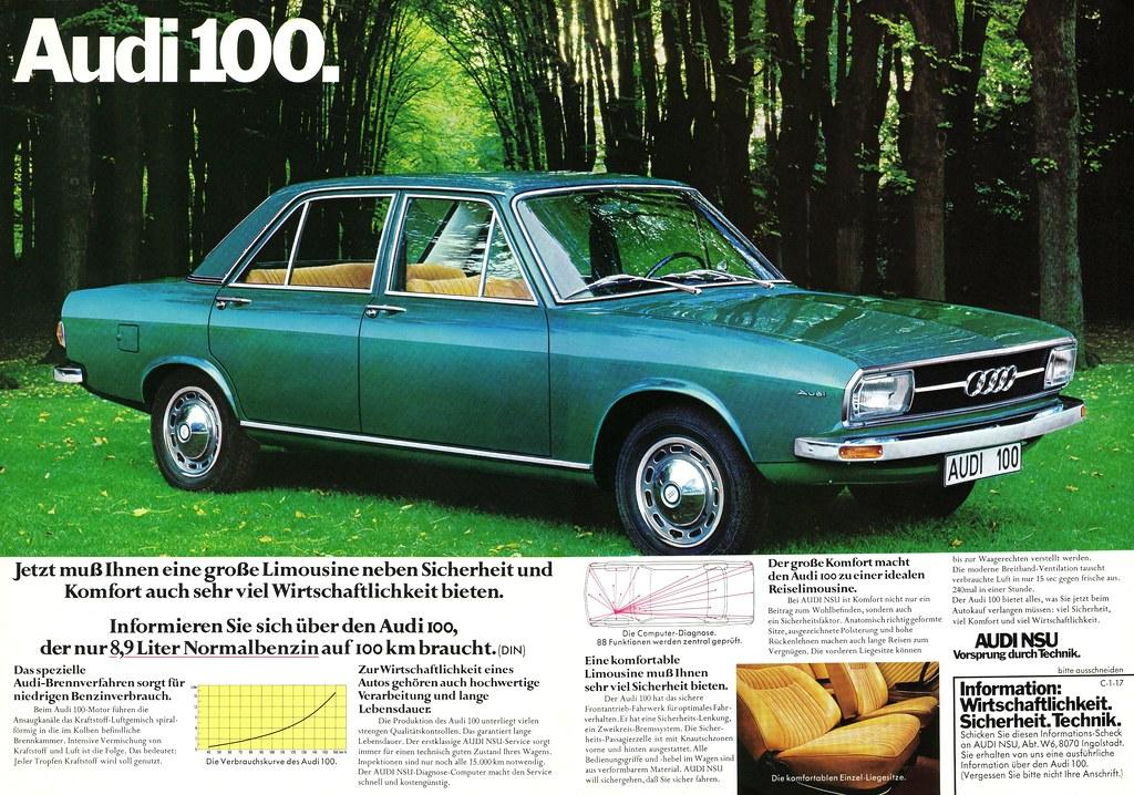 Audi 100 C1 1973 Komfort Jetzt Muss Ihnen Eine Gro 223 E