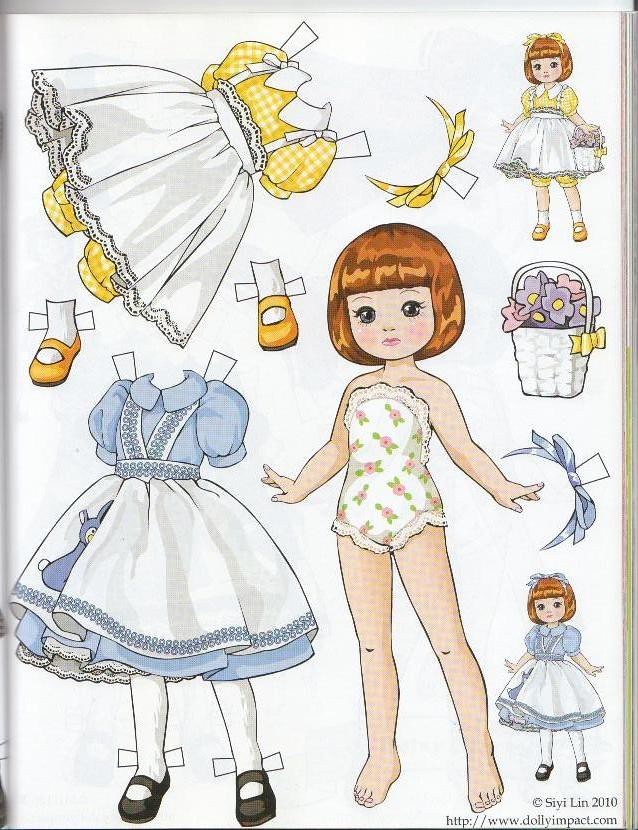 Tiny Betsy McCall Paper Doll By Siyi Lin