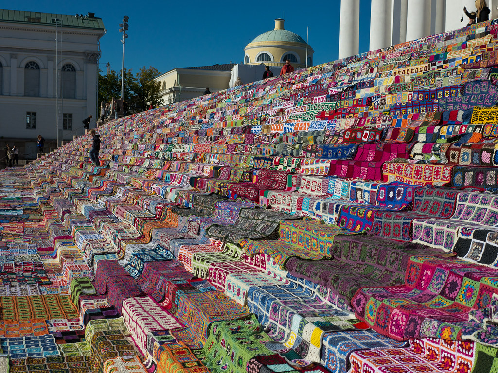 World S Largest Patchwork Quilt The Stairs Of The