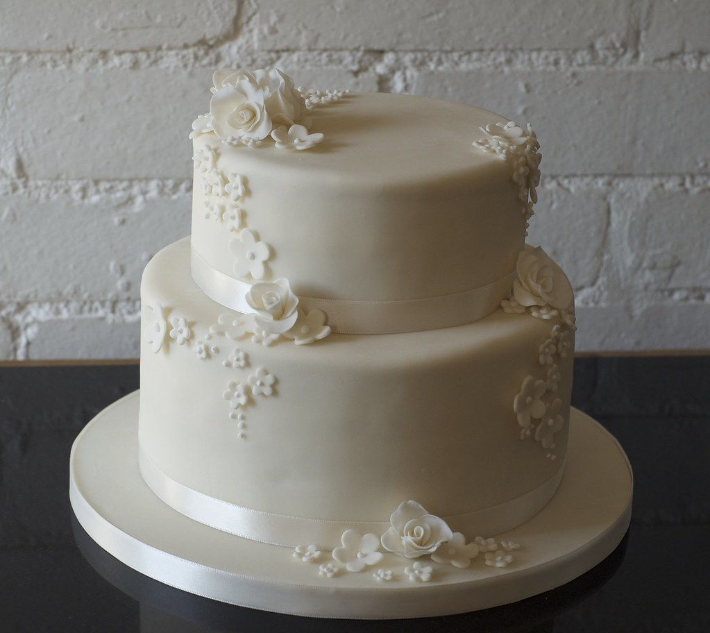 Two Tier Wedding Cake Square