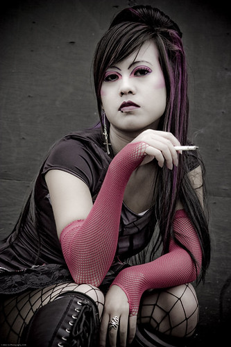 asian-goth-harajuku-style | by vanmobilehair