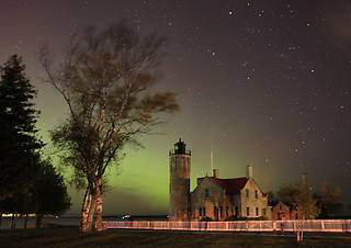 Old Mackinaw Lighthouse under the Northern Lights | by yooper1949