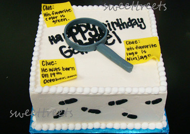 Spy Mystery Party Cake Smooth Buttercream Birthday Cake