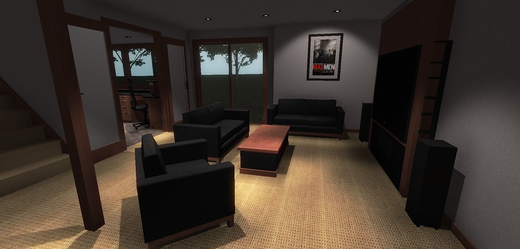 Home Office Media Room Remodel Visualization With Unity3