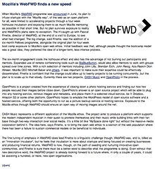 The H: Mozilla's WebFWD finds a new speed (9/23/2011)