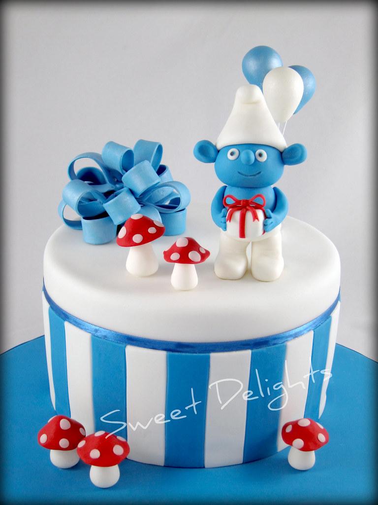The Smurfs Cake