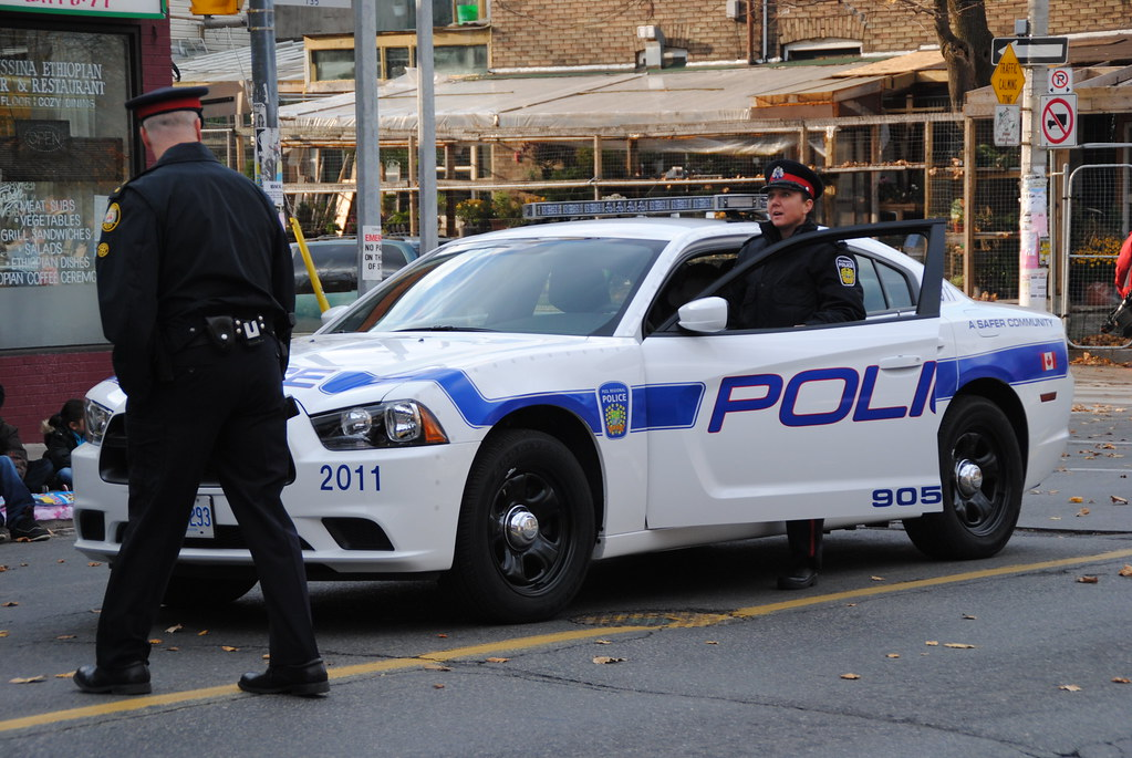 Peel Region Police 2011 Dodge Charger Toronto Santa
