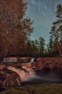 Falls of Dismal 18 Minute Star Trail (No Moon) | by curtisWarwick