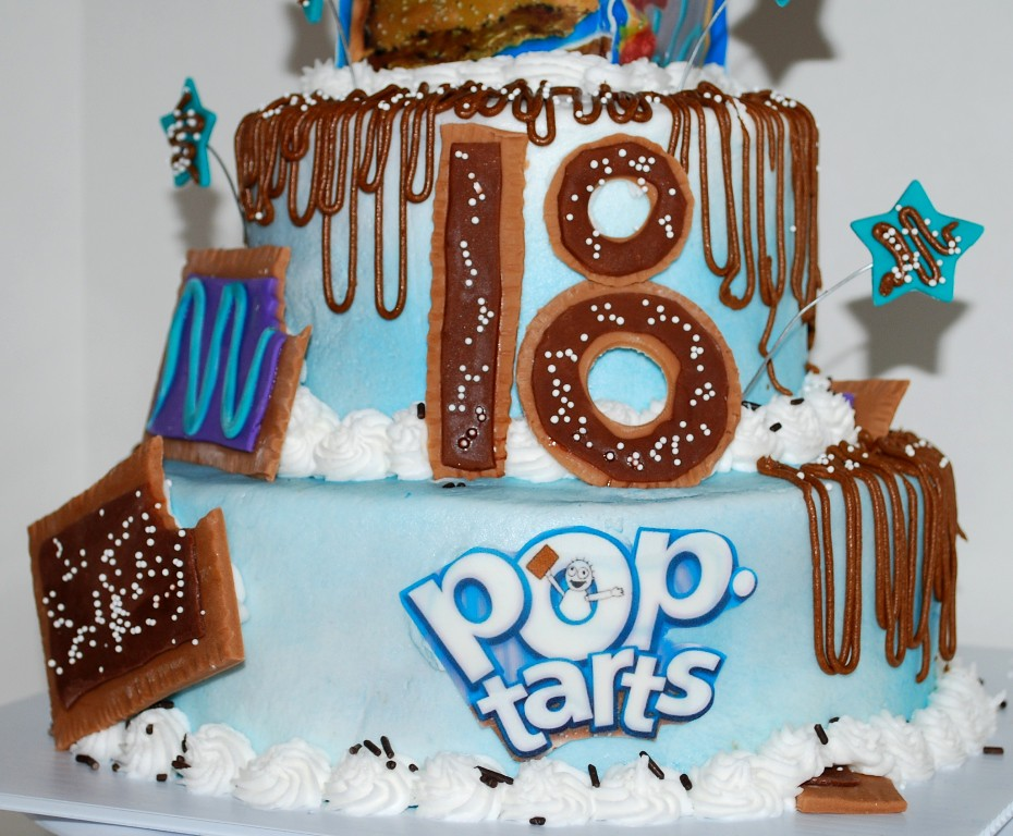 Excellent Pop Tart Theme 18Th Birthday Cake Made Out Of Fondant And Flickr Personalised Birthday Cards Veneteletsinfo