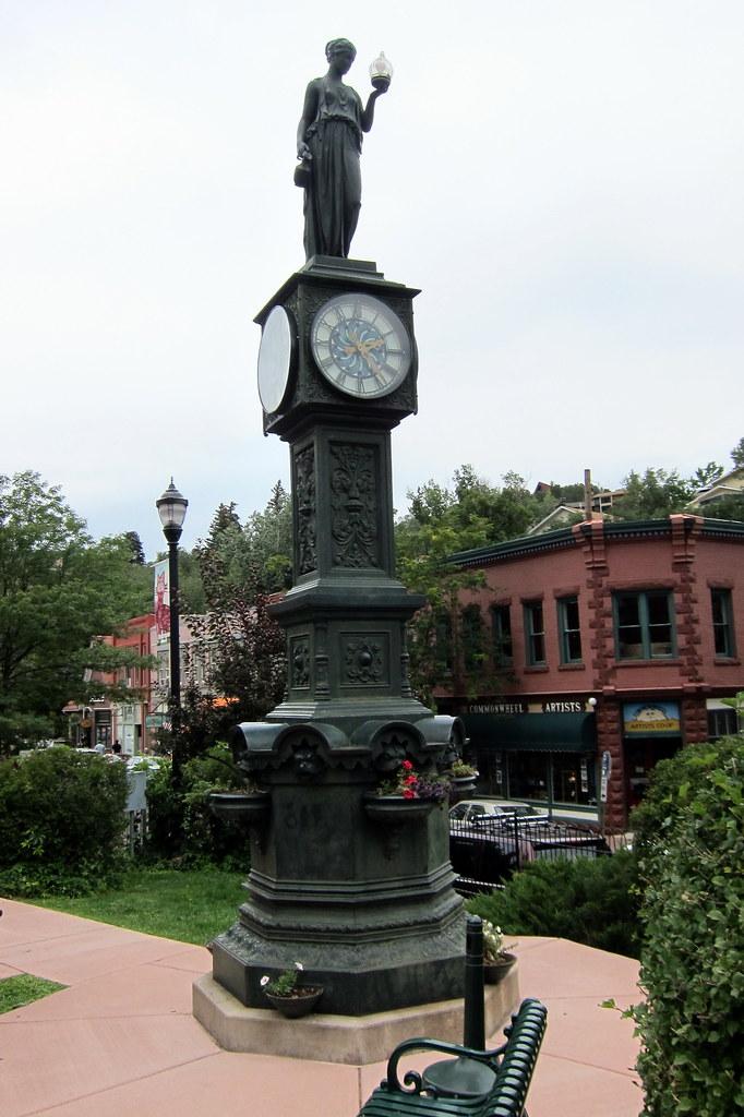 City Of Colorado Springs >> Colorado - Manitou Springs: Wheeler Town Clock | The ...